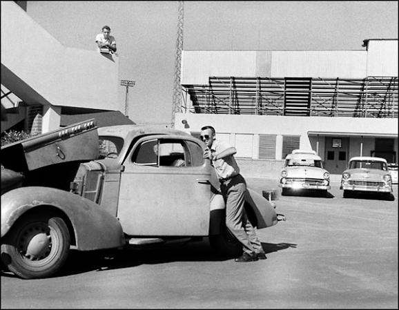 1955 - West Phoenix High parking lot.