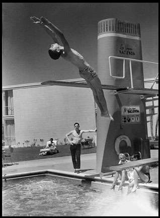 The Diver - self portrait  1957 : Life in the 50's, 60's, 70's : Clayton Price Photographer